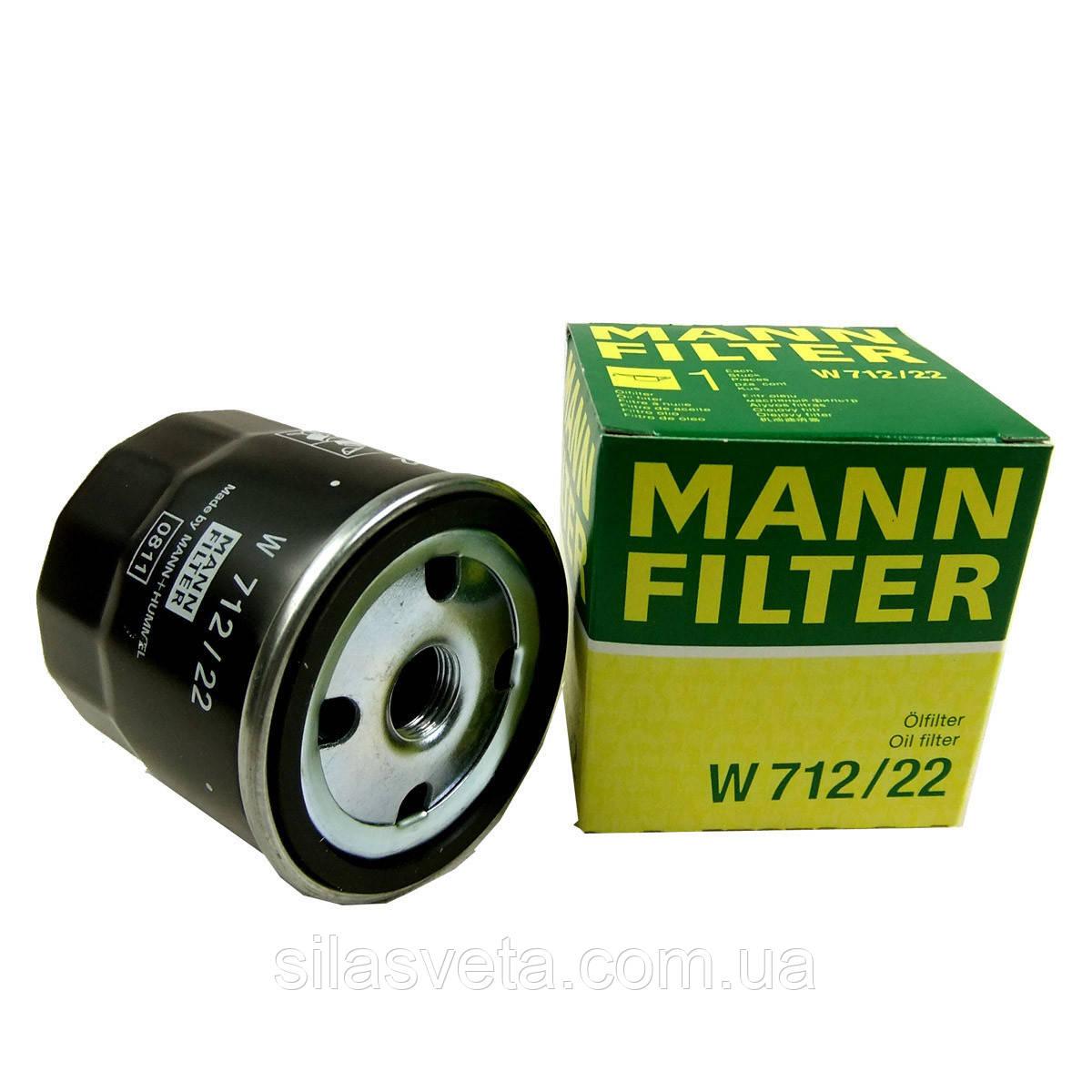 """Фильтр масляный """"MANN"""" W712/22"""