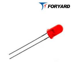 Светодиод красный 5 мм. FYL5013 SRD  160mсd (650nm) круглый, матовый, 60° FORYARD