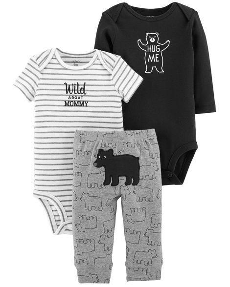 Carters Комплекты одежды для мальчиков 3в1 0-24M