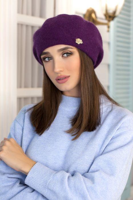 теплый женский берет герда фиолетовый продажа цена в одессе