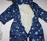 Детский зимний теплый цельный комбинезон 1-2 года, фото 2