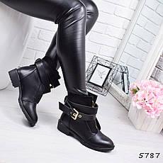 """Ботинки, ботильоны черные демисезонные """"Netta"""" эко кожа, повседневная,осенняя, женская обувь, фото 2"""