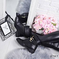 """Ботинки, ботильоны черные демисезонные """"Netta"""" эко кожа, повседневная,осенняя, женская обувь, фото 3"""