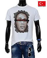 Стильная мужская футболка ,белая.