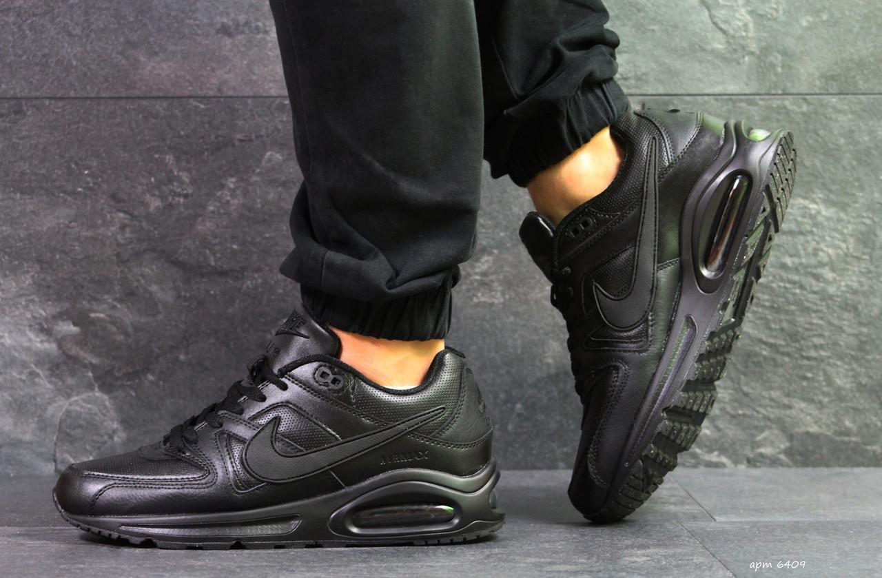 b46ed547 Мужские кроссовки Nike Air Max,черные,кожаные: продажа, цена в ...