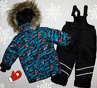 Зимний комбинезон +куртка на мальчика 26,28,30,32,овчина! Шикарное качество!
