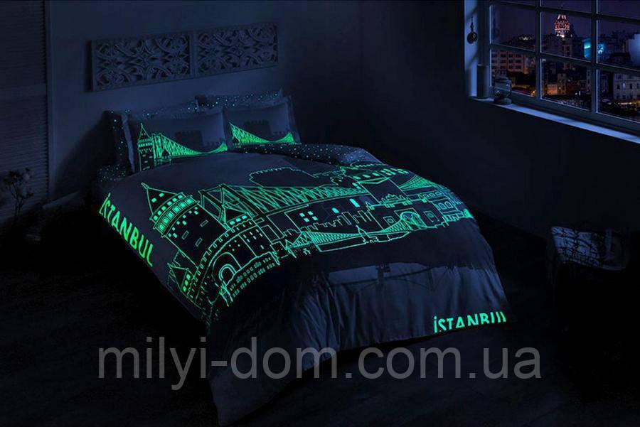 Набор постельного белья TAC Istanbul (светящееся, евро, сатин)
