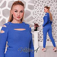 Стильный женский свитер. Фиалка, фото 1