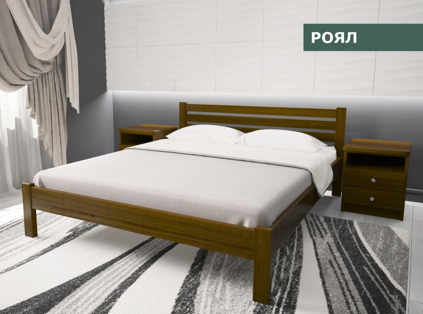 """Кровать """"Роял""""  из натурального дерева (сосна, ольха)"""
