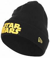 Шапка Star Wars чёрная с отворотом подросток взрослая