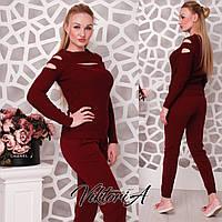 Стильный женский свитер. Бордо, фото 1