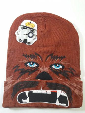 Шапка Star Wars коричневая с отворотом подросток взрослая Чуббака