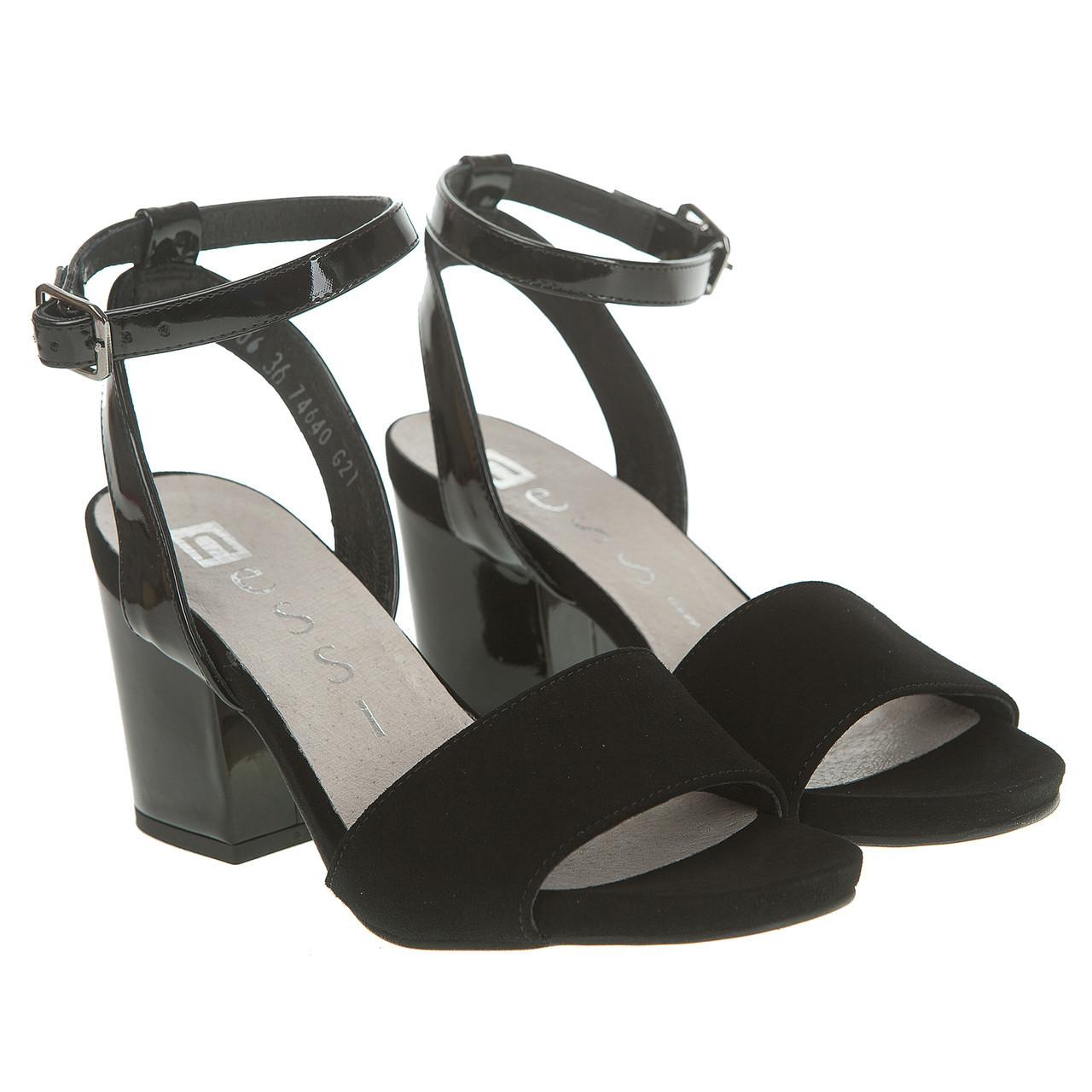 69340b8b1 Босоножки женские Nessi (черные, на удобном каблуке, модные, качественные,  стильные)