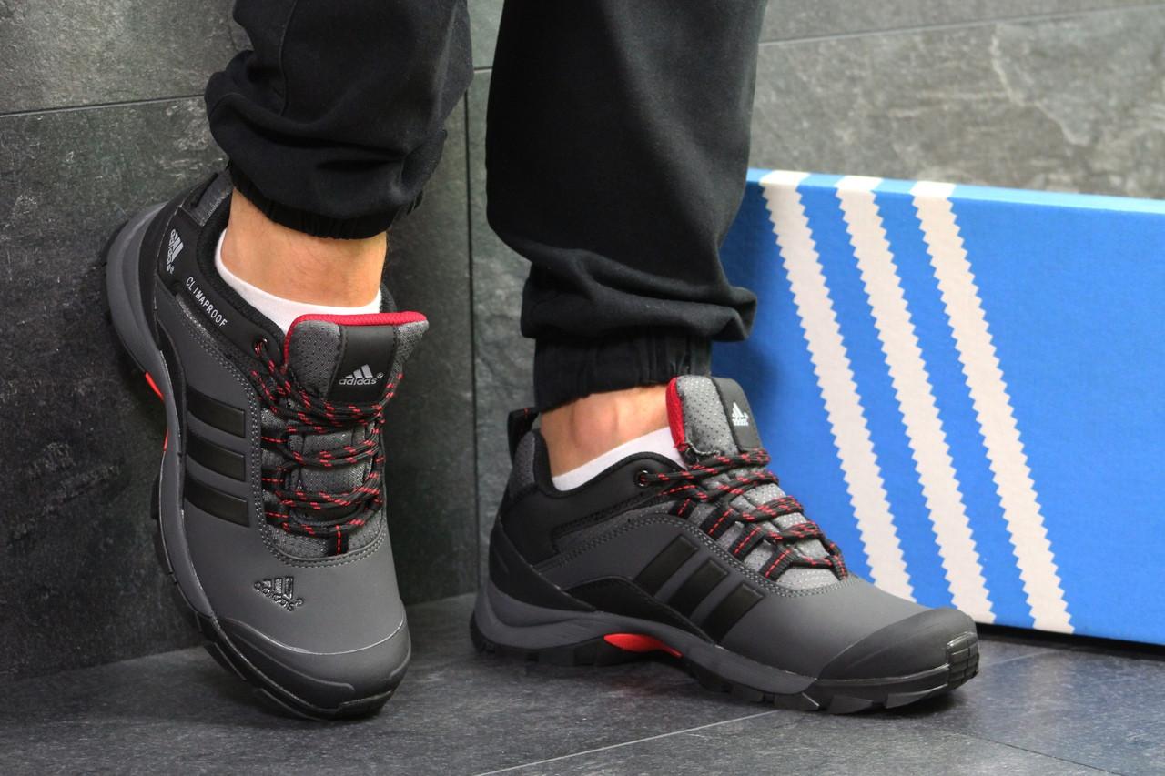 Чоловічі осінні кросівки Adidas Climaproof,термо,сірі