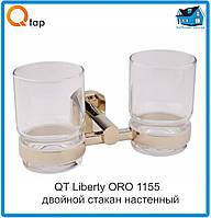 Двойной стакан настенный для зубных щеток QT Liberty ORO 1155