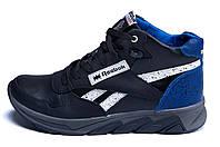 Мужские зимние кожаные кроссовки Reebok NS Blue (реплика), фото 1