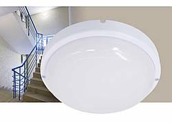 AVT Round 12W LED светильник ЖКХ, 6000К, 1100Lm, IP65,d170mm