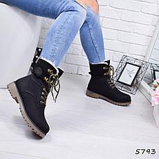 """Ботинки, ботильоны черные ЗИМА """"Tanya"""" эко нубук, повседневная, зимняя, теплая, женская обувь, фото 2"""