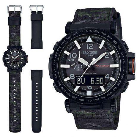 Часы Casio Pro-Trek PRG-650YBE-3 + доп. полимерный ремешок.