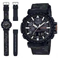 Часы Casio Pro-Trek PRG-650YBE-3 + доп. полимерный ремешок., фото 1