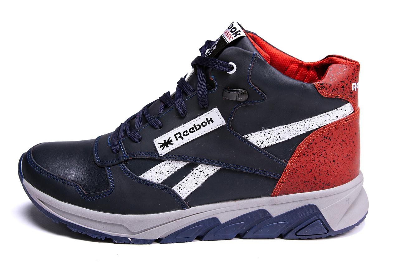 Мужские зимние кожаные кроссовки Reebok NS Red (реплика), фото 1
