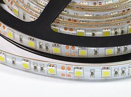 LED лента SMD5050 60шт/м, 14.4W/m, IP65 белая