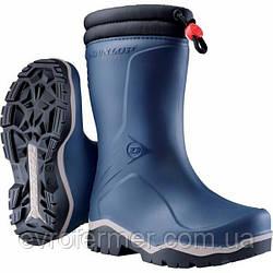 Дитячі зимові гумові чоботи DUNLOP KIDS BLIZZARD для хлопчика