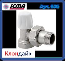 Icma Угловой ручной вентиль простой регулировки нижний для железной трубы 1/2