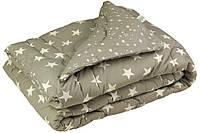 """Одеяло шерстяное демисезонное 210х155 серое чехол бязьТМ """"Руно"""""""