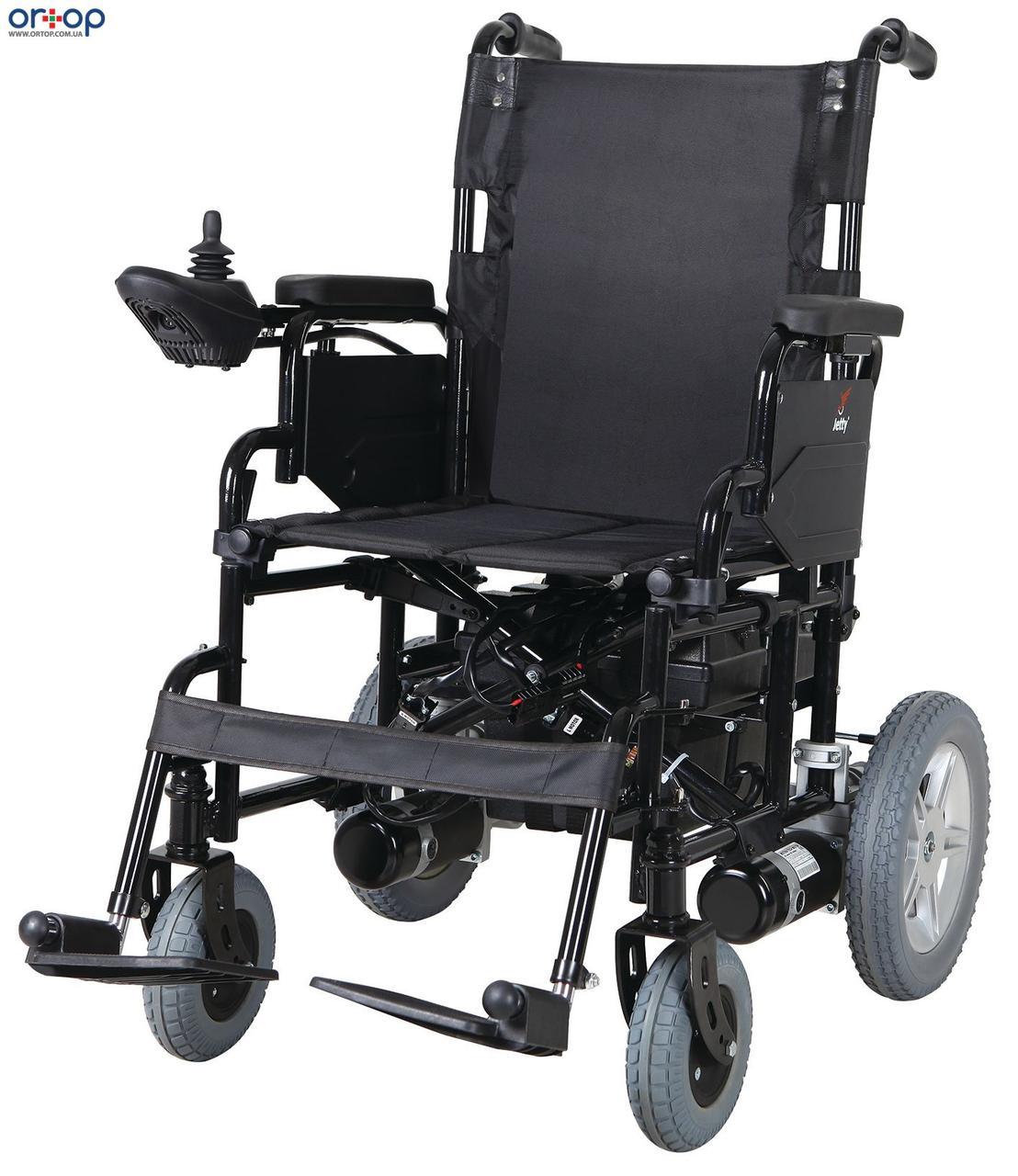 Инвалидная коляска металлическая, с двигателем, складная Heaco JT-100