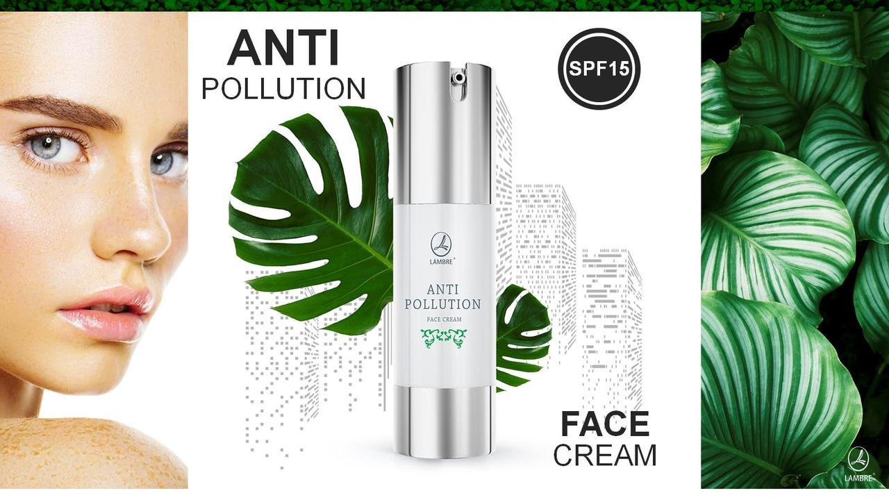 "Крем защитный для лица анти полюшн с ""SPF 15 ANTI-Pollution face cream"" Ламбре / Lambre 50 ml"