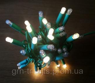 Уличная гирлянда Flash-String UAFULLFLASH зеленый кабель 10м 100 диодов Все диоды мигают