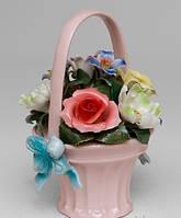 Статуетка порцеляновий Квітковий кошик 17 см Pavone CMS - 33/23