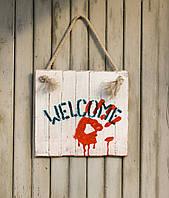 "Табличка на дверь ""WELCOME-Halloween"""