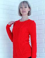 Женский свитер Ежевика, красный, фото 1