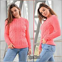 Женский свитер Ежевика, коралл, фото 1