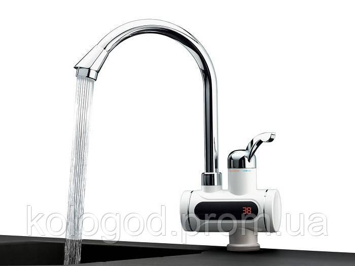 Мгновенный Проточный Электрический Водонагреватель с Дисплеем Instant Electric Heating Water Faucet