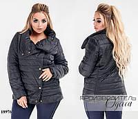 Куртка стеганная из плащевки с подкладкой R-18976 черный