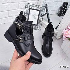 """Ботинки, ботильоны черные демисезонные """"Trap"""" эко кожа, повседневная,осенняя, женская обувь, фото 2"""