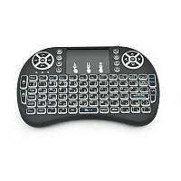 Беспроводная клавиатура i8 Mini Black c 3х-цветной подсветкой English Language, фото 1