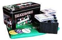 Набор для Покера Texas Holdem Poker Set 200 Фишек, фото 1