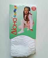 Колготки для дівчаток, малюнок з ажурним ефектом, 152-158 см, фото 1