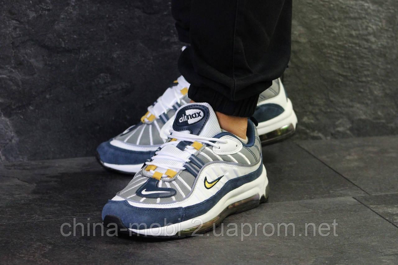 cc2f9625 Кроссовки в стиле Nike Air Max 97 белые с синим. Код 6313. Интернет ...