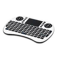 Беспроводная клавиатура i8 Mini White c трехцветной подсветкой English Language, фото 1