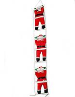 Новогодняя Игрушка Подвесные Santa Claus Декор для Дома Санта Клаусы с Мешком Лезут по Лестнице 35 см