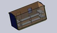Бытовое помещение на 8 человек - размер 6,0 х 2,4 х 2,9 метра Бытовка с 1-м окном для оптимального размещения