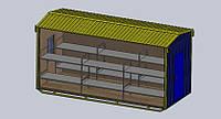 Бытовое помещение на 12 человек - размер 6,0 х 2,4 х 2,9 метра Бытовка для оптимального размещения 12 работник