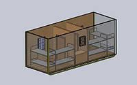 Бытовое помещение на 8 человек - размер 7,0 х 2,4 х 2,9 метра Бытовка на 2 комнаты с кухней для оптимального р, фото 1