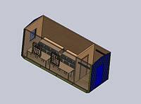 Прорабка - Бытовое помещение размером 7,0 х 2,4 х 2,9 метра Бытовка с торцевым входом и тамбуром Вагончик строительный