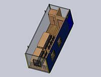 Прорабка - Бытовое помещение размером 7,0 х 2,4 х 2,9 метра Бытовка с фасадным входом и предбанником Вагончик строительный